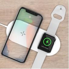 2in1 12W Wireless Töltő - Fehér