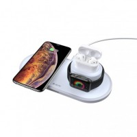 3in1 18W Wireless Töltő - Fehér