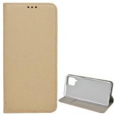 Samsung A52 4G/5G oldalra nyíló flip tok, arany