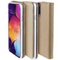 Samsung A52 oldalra nyíló tok, arany