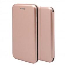 Samsung A51 (A515) oldalra nyíló mágneses könyv tok szilikon belsővel rosegold