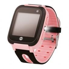 Forever gyerek Bluetooth-os okosóra LBS nyomonkövetéssel, SOS segélyhívással rózsaszín
