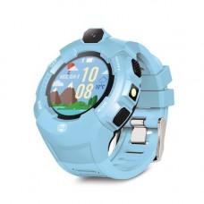 Forever KW-400 gyerek Bluetoothos okosóra GPS / Wifi nyomonkövetéssel, SOS segélyhívással kék