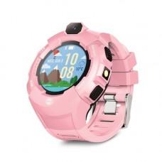 Forever KW-400 gyerek Bluetoothos okosóra GPS / Wifi nyomonkövetéssel, SOS segélyhívással rózsaszín