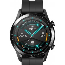 Huawei Watch GT 2 46 mm-es fekete fluorelasztomer heveder