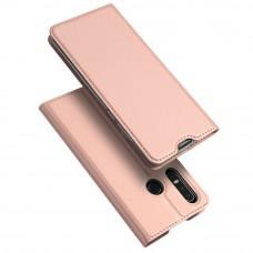 Huawei P30 Lite oldalra nyíló mágneses könyv tok szilikon belsővel arany