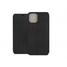 Iphone 11 Pro Max oldalra nyíló mágneses könyv tok szilikon belsővel fekete