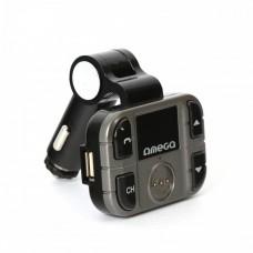 Autós bluetooth kihangosító + FM Transmitter, BT V2.1+EDR, LCD kijelző, USB, MicroSD, mikrofon