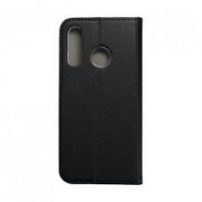 Huawei P30 oldalra nyíló mágneses könyv tok szilikon belsővel fekete