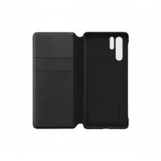 Huawei P30 Pro oldalra nyíló mágneses könyv tok szilikon belsővel fekete