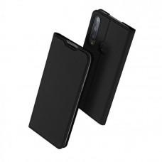Huawei P40 Lite E oldalra nyíló mágneses könyv tok szilikon belsővel fekete