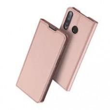 Huawei P40 Lite E oldalra nyíló mágneses könyv tok szilikon belsővel rózsaszín