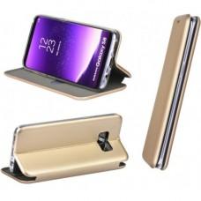 Huawei P40 Pro oldalra nyíló mágneses könyv tok szilikon belsővel arany