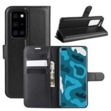 Huawei P40 Pro oldalra nyíló mágneses könyv tok szilikon belsővel fekete