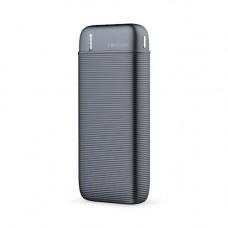 Power bank 1x USB foglalattal 10000mAh fekete (max 2,1A)