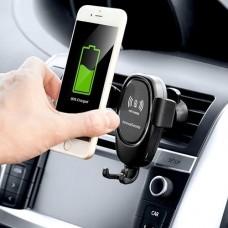 Univerzális autós tartó vezeték nélküli (QI) töltéssel, szellőzőre, műszerfalra