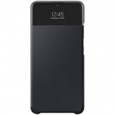 Samsung A32 5G gyári, oldalra nyíló tok, fekete