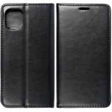 Huawei P40 Lite oldalra nyíló mágneses könyv tok szilikon belsővel fekete